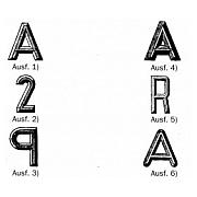 Modellzeichen aus Weißmetall