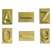 Modellzeichen mit Grundplatte, Blockschrift