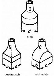 Metall-Stampffüße für Druckluft-Stampfer