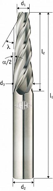 Konische Schaftfräser aus Vollhartmetall